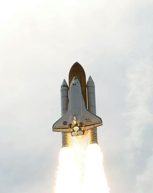 Atlantis space shuttle launch mission.