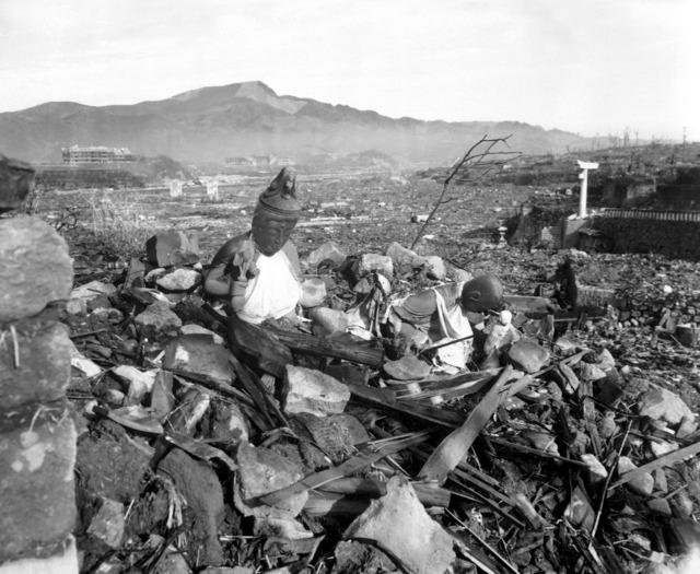 Atomic bomb weapons of mass destruction destruction.