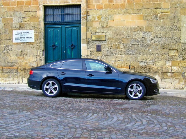 Audi a5 black car luxury car, transportation traffic.