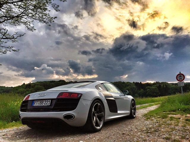 Audi sports car r8, transportation traffic.