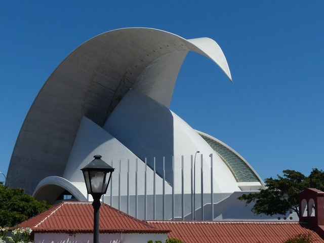 Auditorio de tenerife auditorium of tenerife hall, architecture buildings.