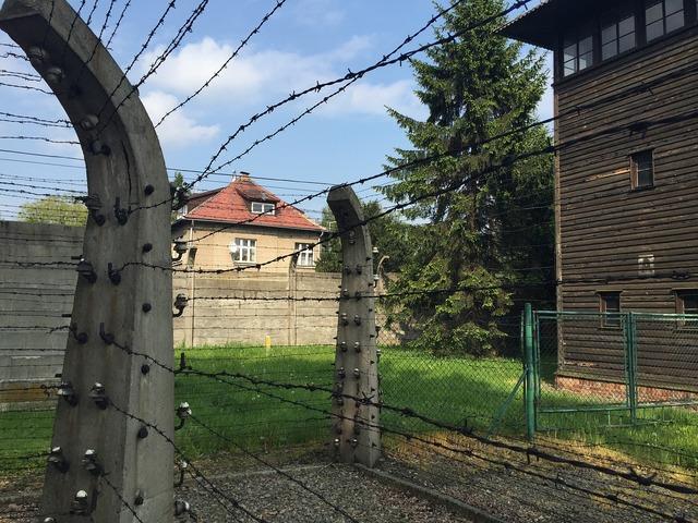 Auschwitz watchtower second world war.