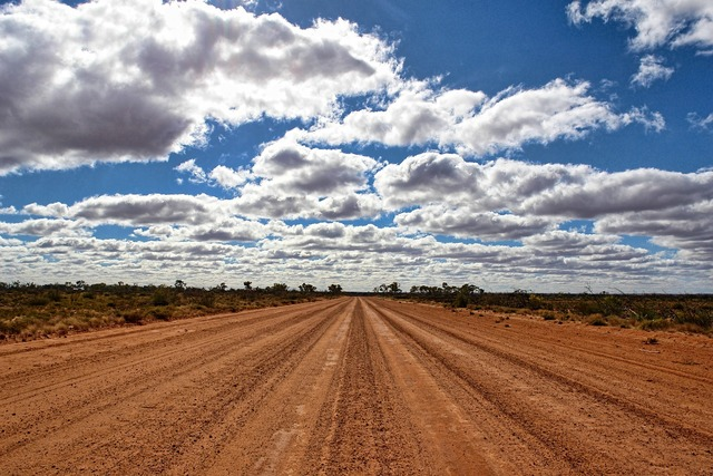 Australia outback great, transportation traffic.