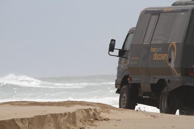 Auto beach truck, travel vacation.
