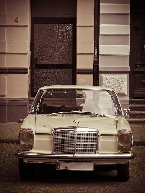 Auto mercedes oldtimer, transportation traffic.