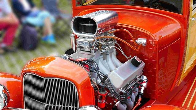 Auto retro motor.