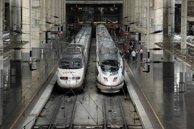 Ave train high speed atocha.
