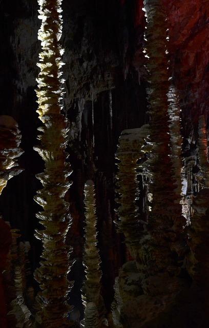 Aven armand stalagmites cave.