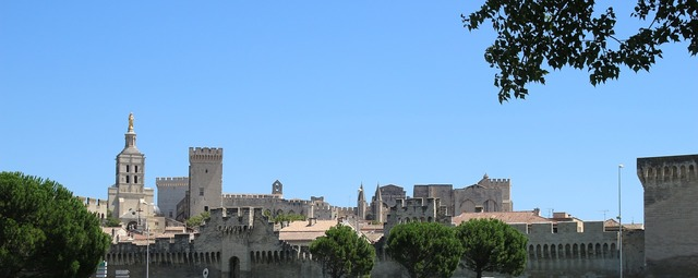 Avignon pope palais des papes, architecture buildings.
