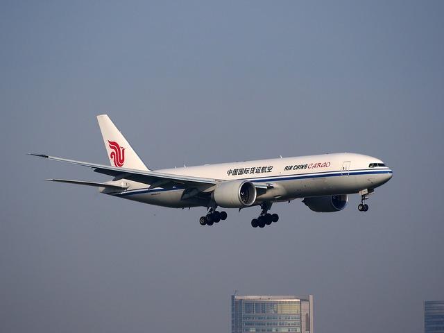 B-2095 air china cargo aircraft, transportation traffic.