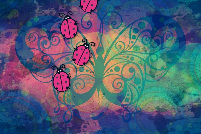 Background colorful bugs, backgrounds textures.
