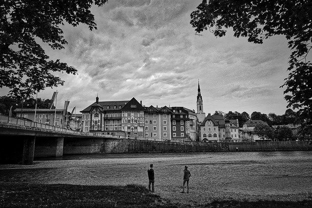 Bad tolz village river, architecture buildings.