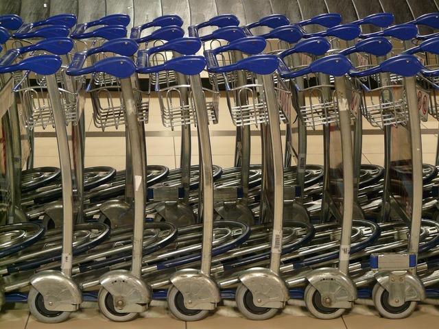 Baggage car gepaecktrolley trolley, transportation traffic.