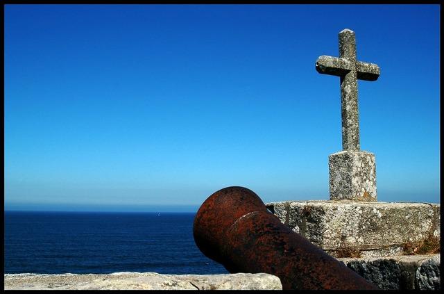 Baiona galicia sea, nature landscapes.
