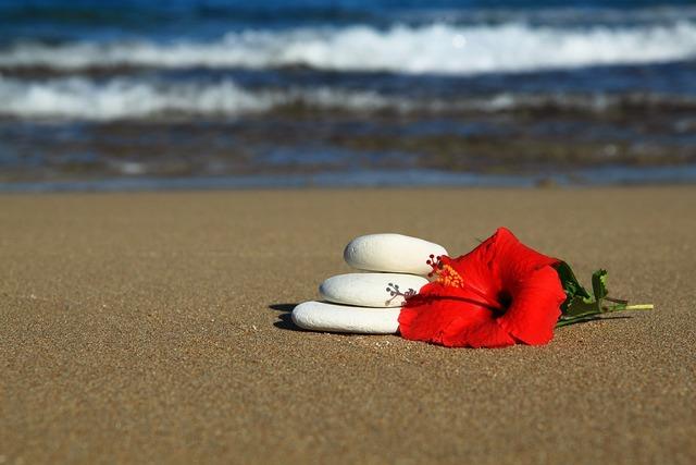 Balance beach blue, travel vacation.