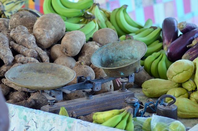 Balance market fruit, food drink.
