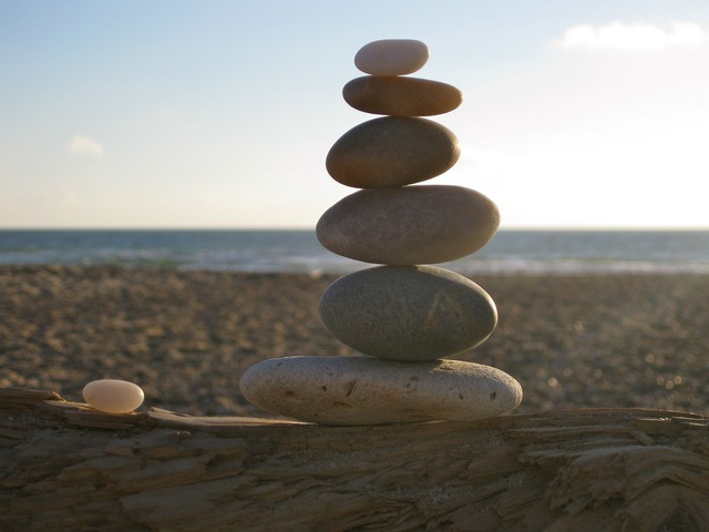 Balance stones stacked, travel vacation.