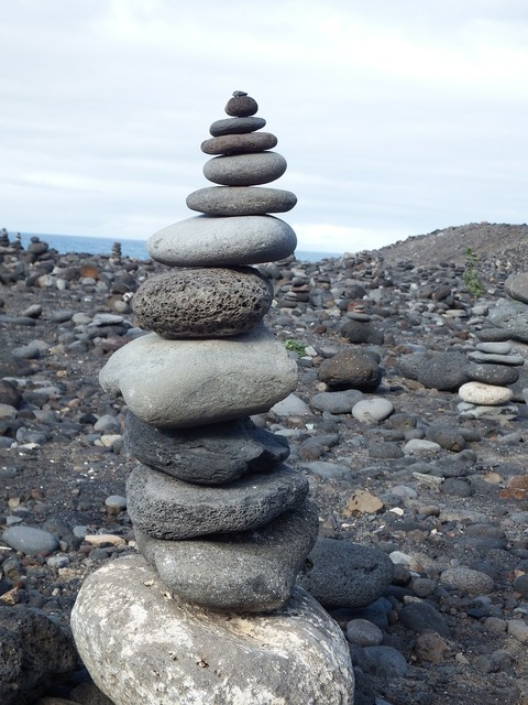 Balance stones tower, travel vacation.