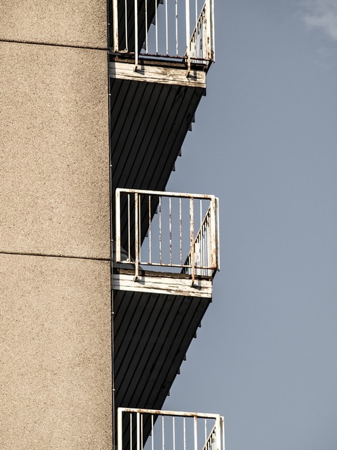 Balconies skyscraper mietkaserne, architecture buildings.