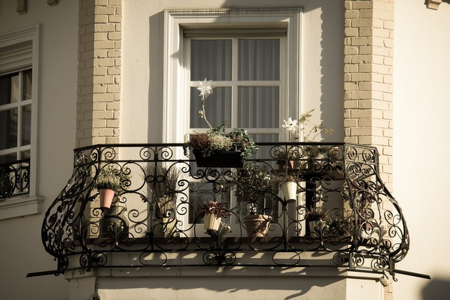 Balcony iron wrought iron.
