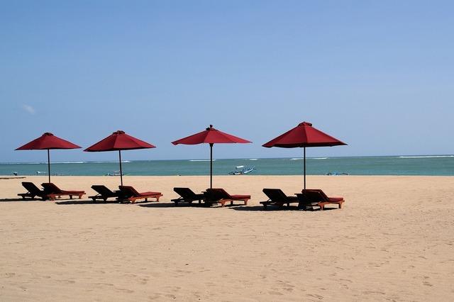 Bali beach kuta, travel vacation.