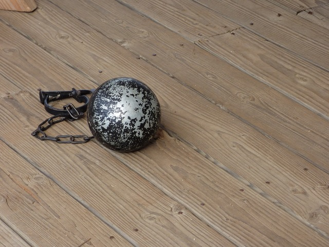 Ball and chain legal law, backgrounds textures.