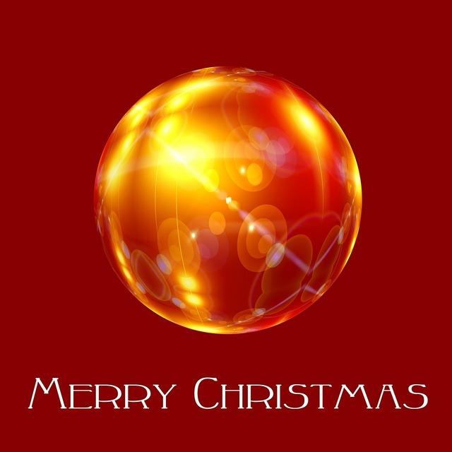 Ball christmas red.