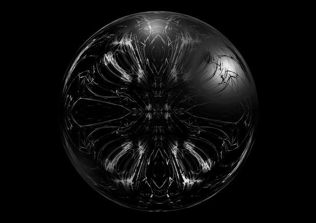 Ball dark gloomy.