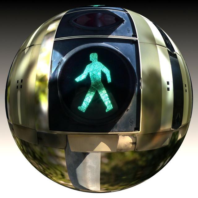 Ball district traffic lights, transportation traffic.
