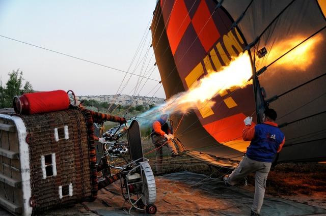 Ball hot air ballooning aerostat.
