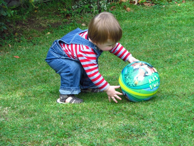 Ball play toddler, people.