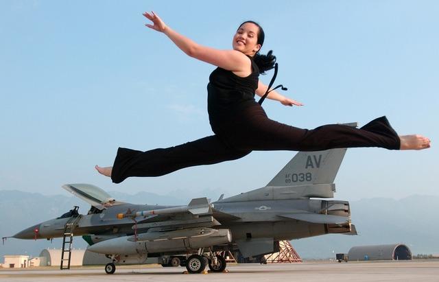 Ballet leap jeté jump, emotions.
