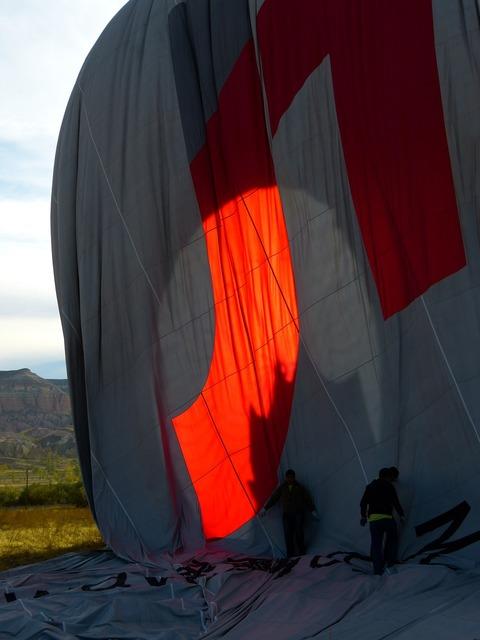 Balloon hot air balloon sleeve.