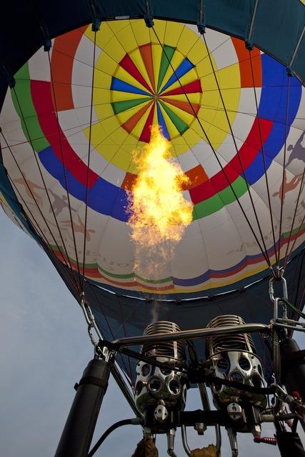 Balloon hot air rising.