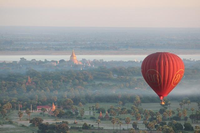 Balloons over bagan hot air balloon ride bagan, religion.