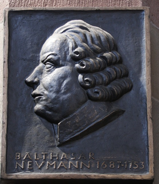 Balthasar neumann memorial plaque 1687.