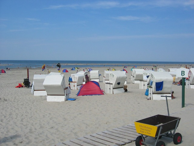 Baltrum north sea beach, travel vacation.
