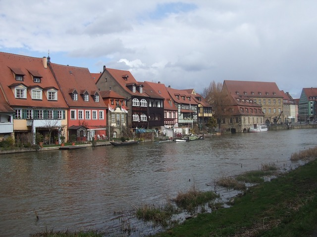 Bamberg small venice town on the river.