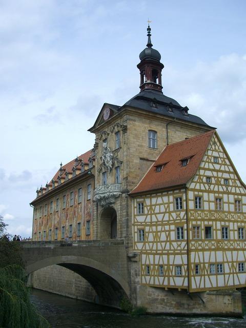 Bamberg town hall bridge.