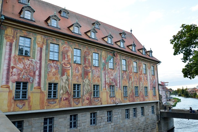 Bamberg town hall bridge, architecture buildings.