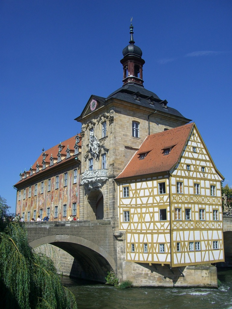 Bamberg town hall old, architecture buildings.