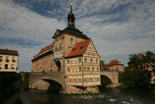 Bamberg world heritage town hall, architecture buildings.
