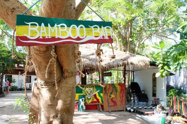 Bamboo restaurant thailand.
