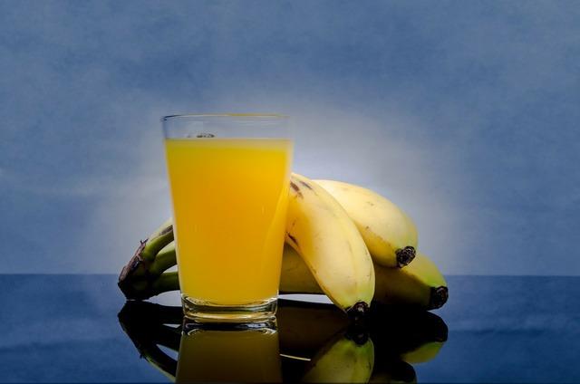 Banana juice flavor, food drink.
