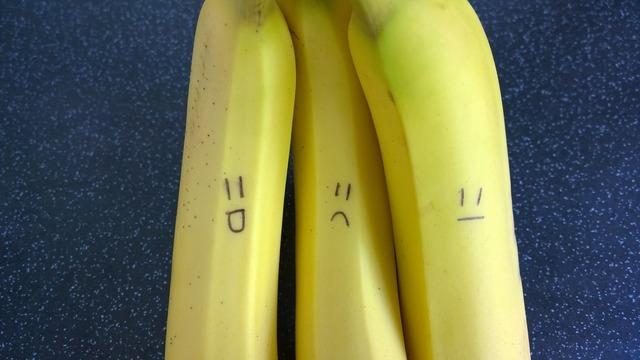 Bananas fruit happy, food drink.