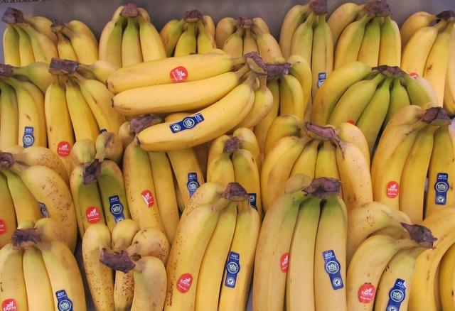 Bananas yellow fresh, food drink.