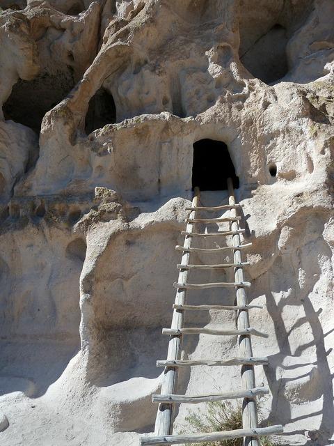 Bandelier national monument rocks limestone.