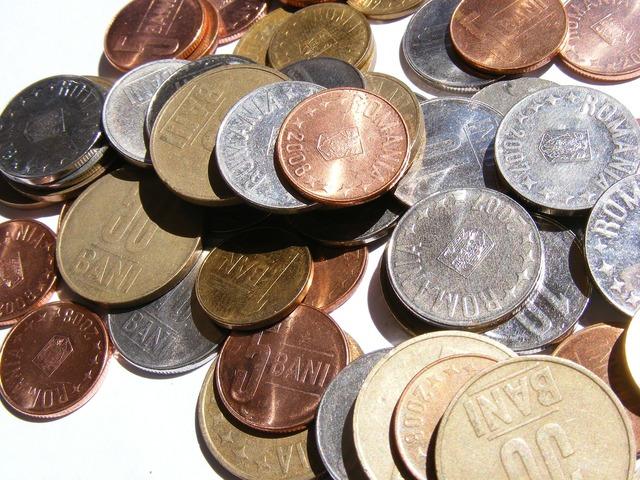 Bani coins lei, business finance.