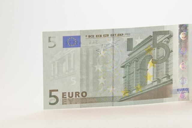 Banknote euro bill.
