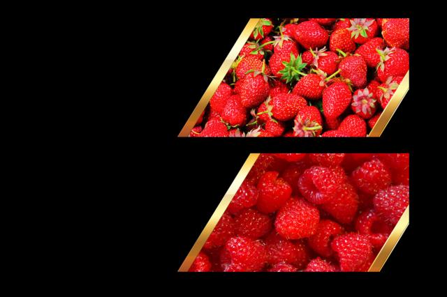 Banner menu berry, food drink.